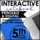 Fifth Grade Math Interactive Notebook GROWING Bundle