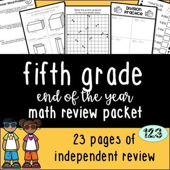 Fifth Grade Math Review {NO PREP!} Packet