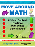 5th Grade Math Scavenger Hunt: Adding and Subtracting Frac