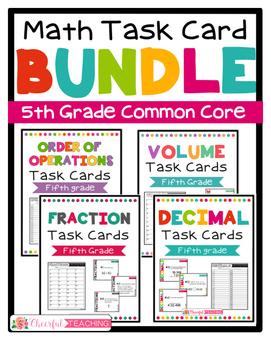 Fifth Grade Math Task Card BUNDLE!