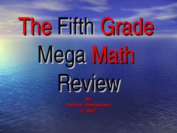 Fifth Grade Mega Math Review PowerPoint