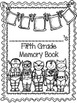 Fifth Grade Memory Book (Superheores)