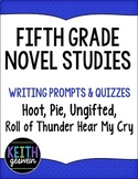 Fifth Grade Novel Studies:  Hoot, Ungifted, Pie, Roll of T