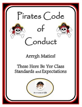 Back to School Fifth Grade Pirates' Code of Conduct