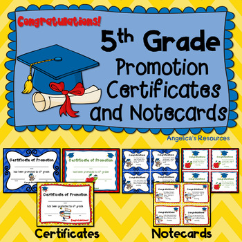 End of the Year Awards: 5th Grade Promotion Certificates a