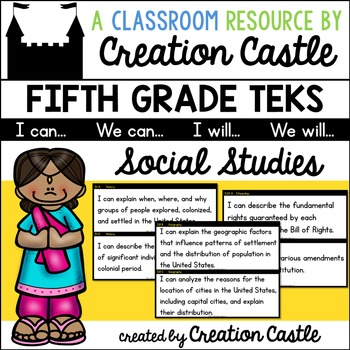 Fifth Grade Social Studies TEKS - Can and Will Standards S