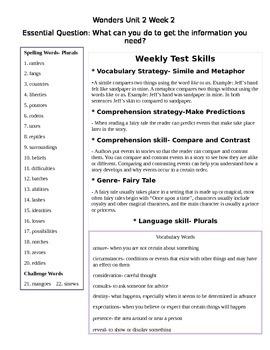 Fifth Grade Study Guide Unit 2 Week 2 McGraw Hill Wonders