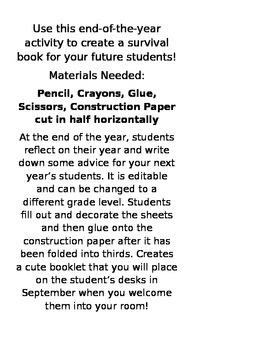 Fifth Grade Survival Book