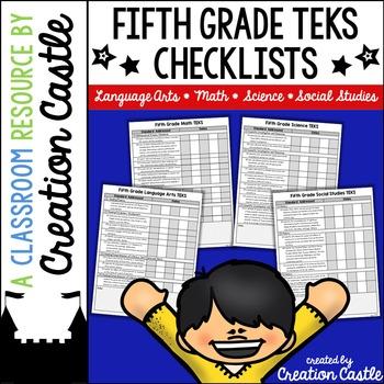 Fifth Grade TEKS Checklists