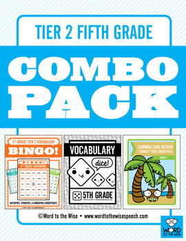 Fifth Grade Tier 2 Vocabulary Combo Pack