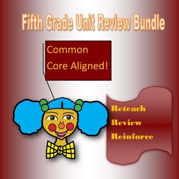 Fifth Grade Unit Review Bundle