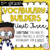 Fifth Grade Vocabulary Word Builders Unit 3