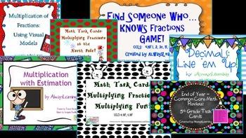 Fifth Grade Common Core Math Stations Bundle