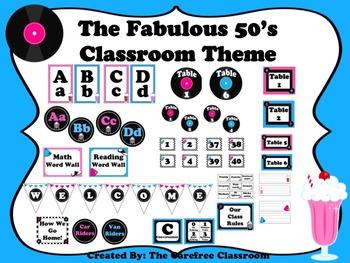 Fifties Classroom Theme