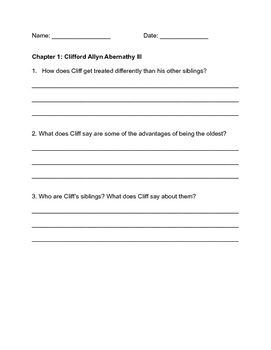 Fig Pudding Chapter by Chapter Questions