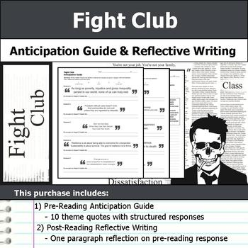 Fight Club - Anticipation Guide & Reflection