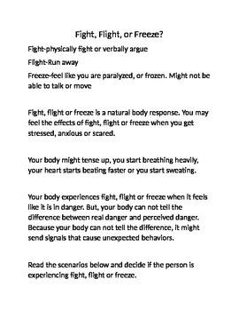Fight, Flight, or Freeze
