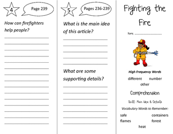 Fighting the Fire Trifold - California Treasures 2nd Grade