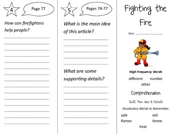 Fighting the Fire Trifold - Treasures 2nd Grade Unit 1 Wee