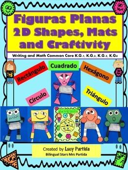 Shapes Figuras planas Actividades-Centers-Writing ARTBilin