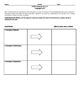 Figurative & Connotative Language CCSS RL.7.4