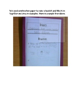 Figurative Language Booklet and PowerPoint