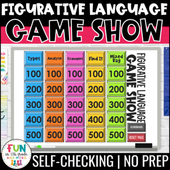 figurative language game show powerpoint by fun in 5th