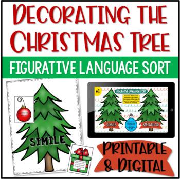 Figurative Language Activity {Decorate the Christmas Tree}