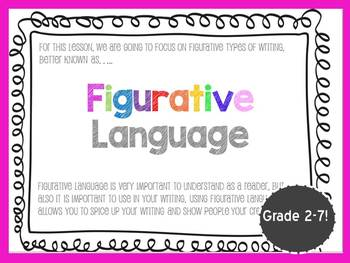 Figurative Language Power Point Bundle (Fun and Colorful P