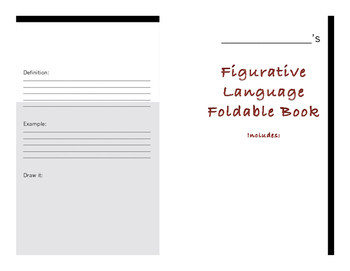 Figurative Language Foldable Book