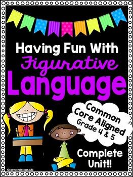 Figurative Language Unit-Worksheets,Activities,Assessments