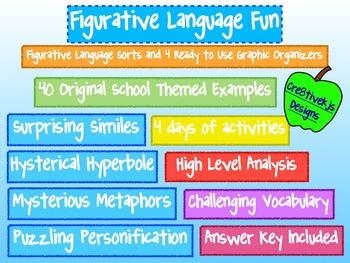 Figurative Language Fun:  Simile, Metaphor, Hyperbole, Per