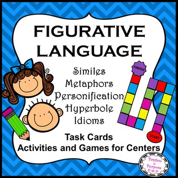 Figurative Language Fun! Task Cards, Game, and Activities