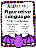Figurative Language Halloween Activities & Creative Writing Pack