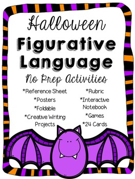 Figurative Language Halloween Activities & Creative Writing Pack