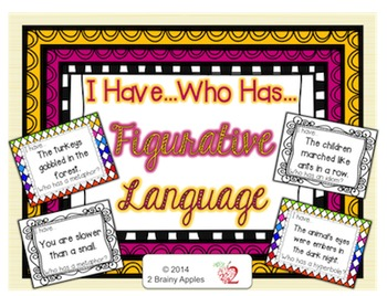 Figurative Language: I Have Who Has Task Cards