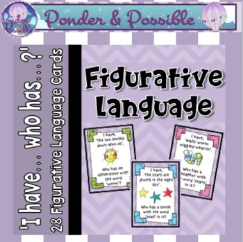 Figurative Language ~ 'I have...who has...?' Cards