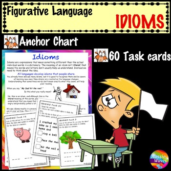 Figurative Language IDIOMS UNIT Anchor Chart and Task Cards