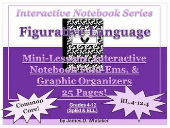 Figurative Language Interactive Notebook Graphic Organizer