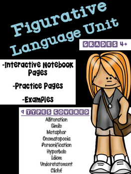 Figurative Language Interactive Notebook Mini Unit