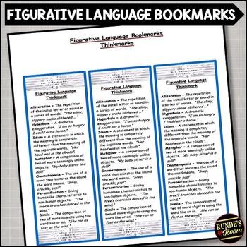 Figurative Language - Literary Element Bookmark