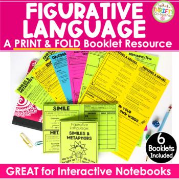 "Figurative Language ""No Cut"" Interactive Notebook: Simile"