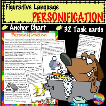 Figurative Language PERSONIFICATION UNIT Anchor Chart and