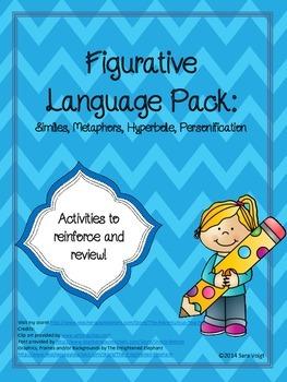 Figurative Language Pack: Similes, Metaphors, Hyperbole, P