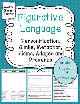 Figurative Language: Personification, Simile, Metaphor, Pr