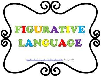 Figurative Language Posters, Similes, Idioms, Hyperbole, M