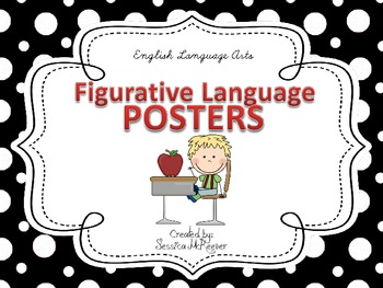 Figurative Language Posters for the Classroom (Black, Whit