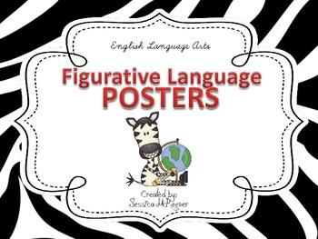 Figurative Language Posters for the Classroom: Zebra Theme