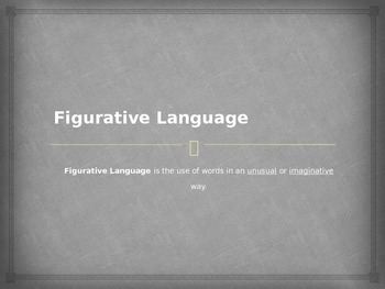 Figurative Language Power Point (In English)