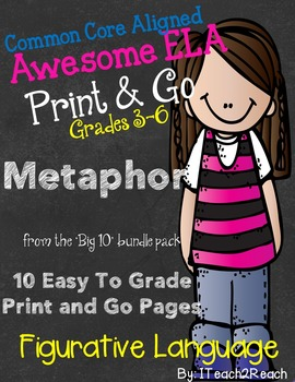 Figurative Language Print and Go Metaphor